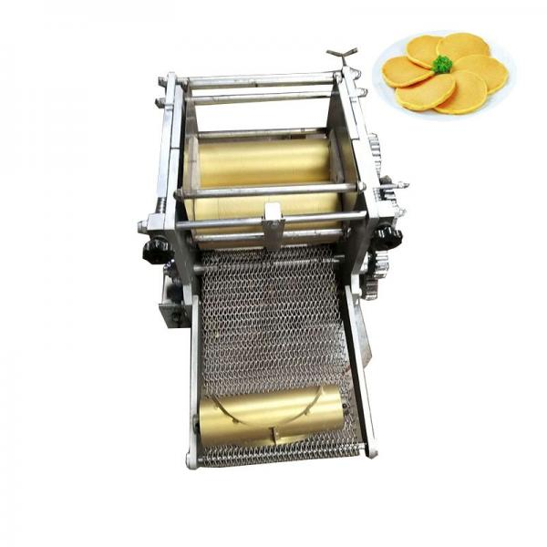 160mm Gas Power Electric Roast Duck Roller Thin Bread Roti Making Machine #1 image