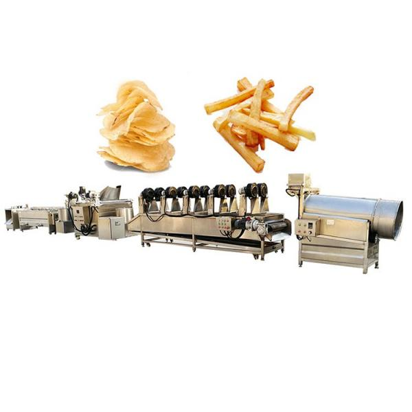 Vegetable Potato Chip Washing Peeling Cutting Slicer Conbined Machine #3 image