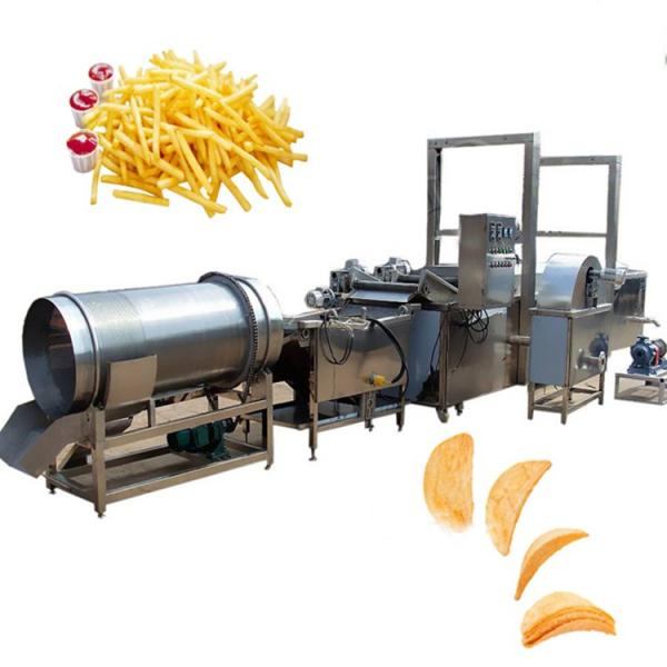 Vegetable Potato Chip Washing Peeling Cutting Slicer Conbined Machine #2 image